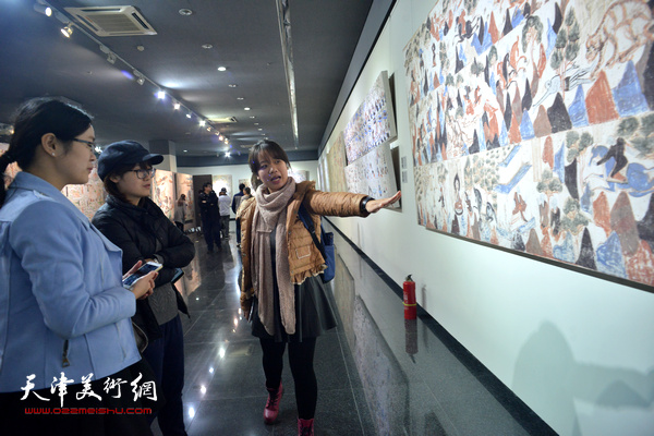 敦煌壁画艺术精品高校公益巡展-天津城建大学站