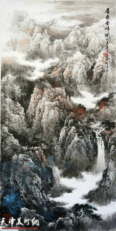 郭金标山水画作品:层峦叠嶂
