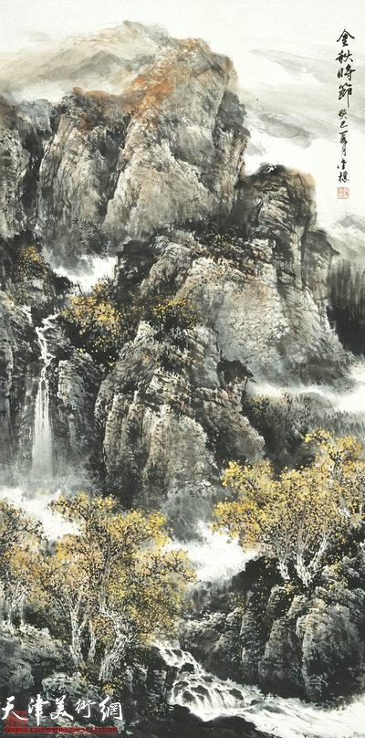 郭金标山水画作品:金秋时节