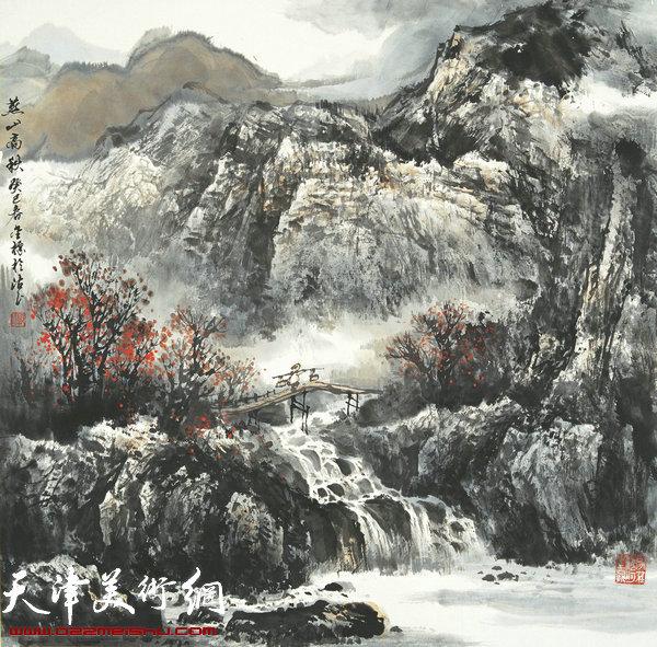 郭金标山水画作品:燕山高秋