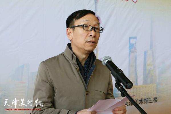 天津市文联副主席、中国书协副主席、天津市书协常务副主席张建会致辞