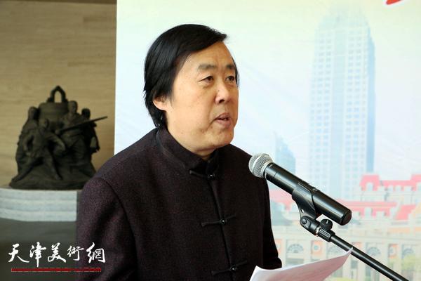 开幕式由天津市书协驻会副主席邵佩英主持