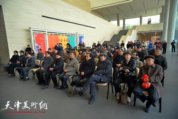 """""""天津-上海书法交流展""""开幕仪式现场。"""