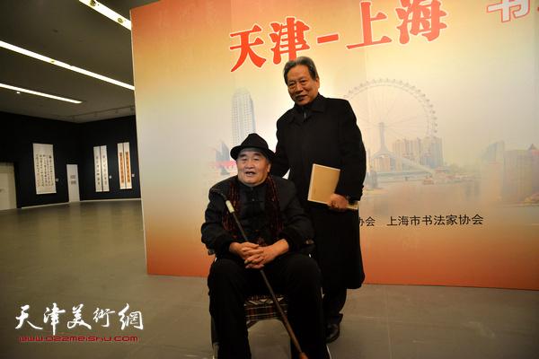孙伯翔、霍然在展览现场。