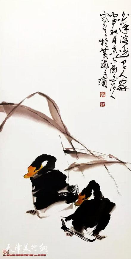 董振涛入展作品《白洋淀边有人家》