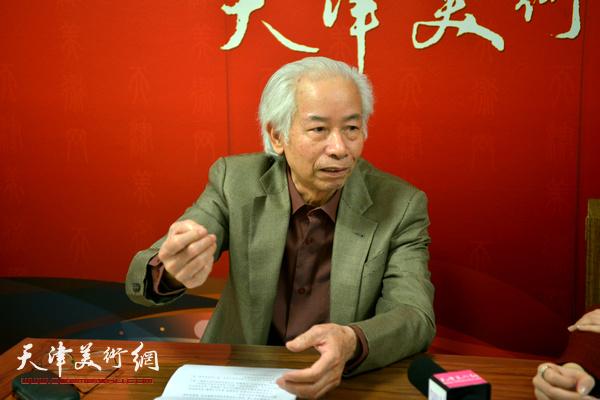 著名艺术家庄征做客天津美术网 (4)