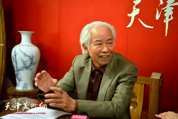 著名艺术家庄征做客天津美术网