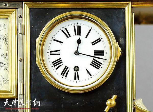 清 法国1907年老爷车模型钟 43CM WIDTH x 20CM HEIGHT 局部