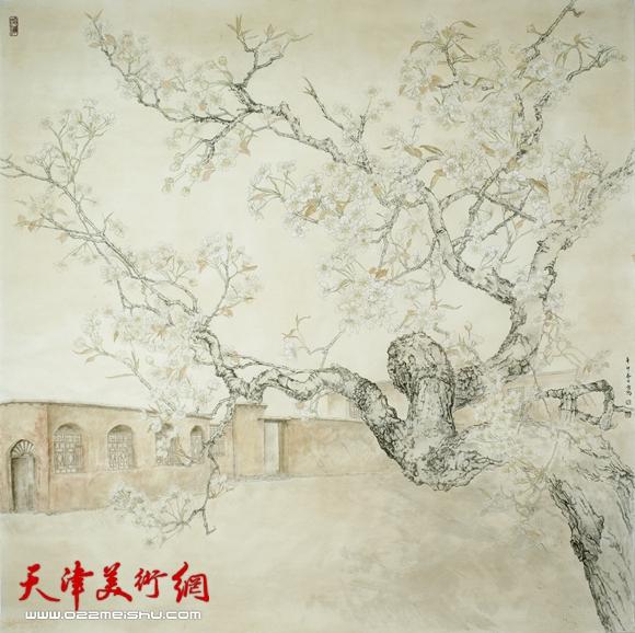 庄雪阳作品《西柏坡的春天》(天津市庆祝建党90周年美展铜奖)