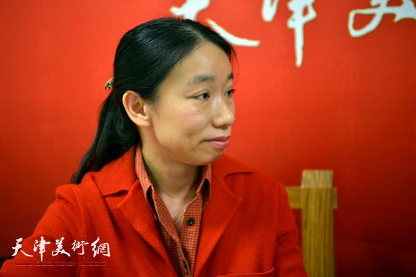 著名画家庄雪阳做客天津美术网