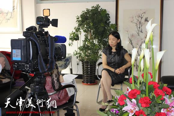 庄雪阳接受电视专访