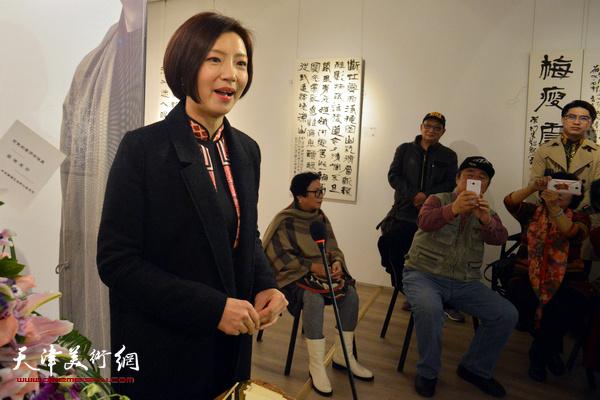 天津广播电视台著名主持人李佳致辞