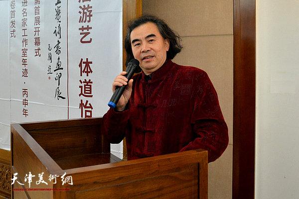 扬州八怪研究院刘方明院长致辞。
