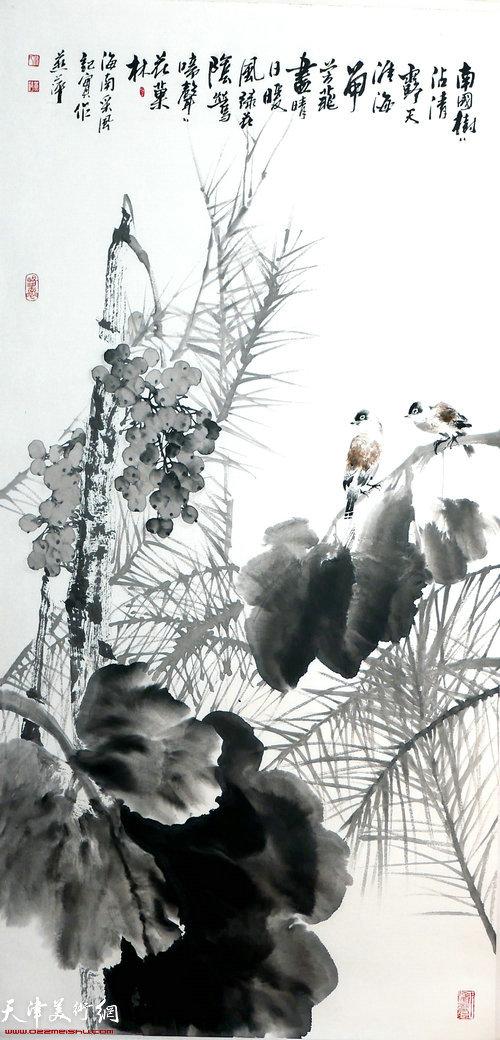崔燕萍作品:南国树树沾清露