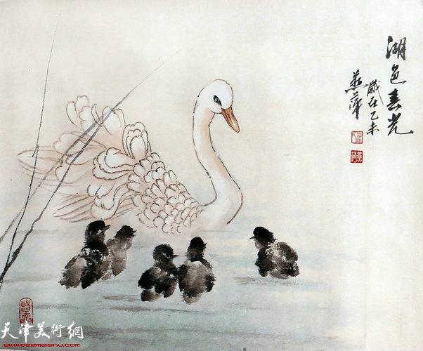 崔燕萍作品:湖色春光