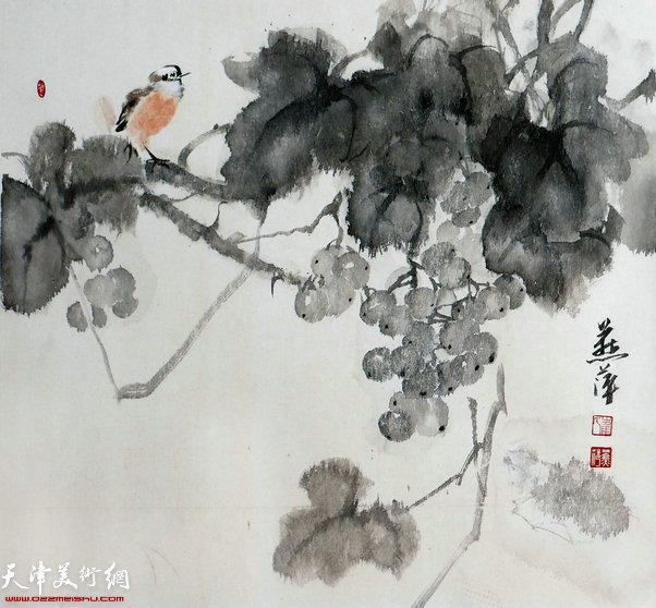 崔燕萍作品:秋实图