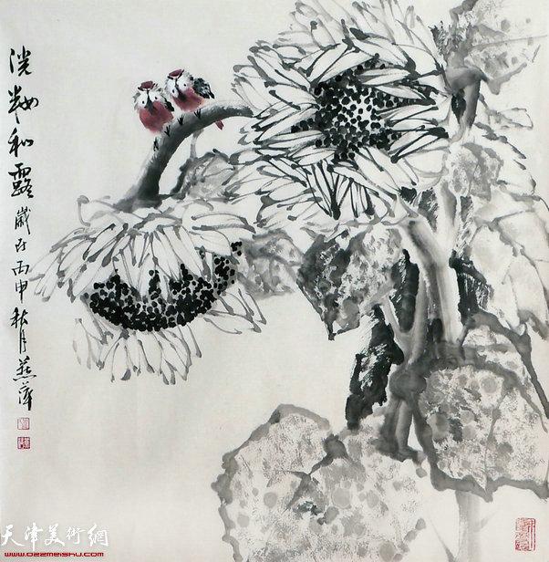 崔燕萍作品:淡妆和露