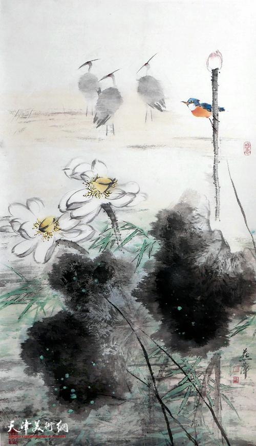 崔燕萍作品:荷塘晨曦
