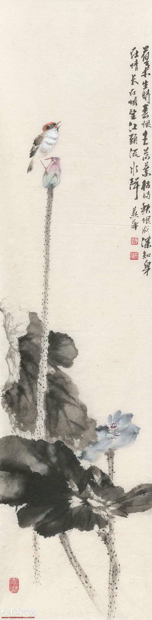 崔燕萍作品:四扇屏 之三