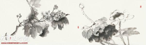 崔燕萍作品:四季花卉 夏