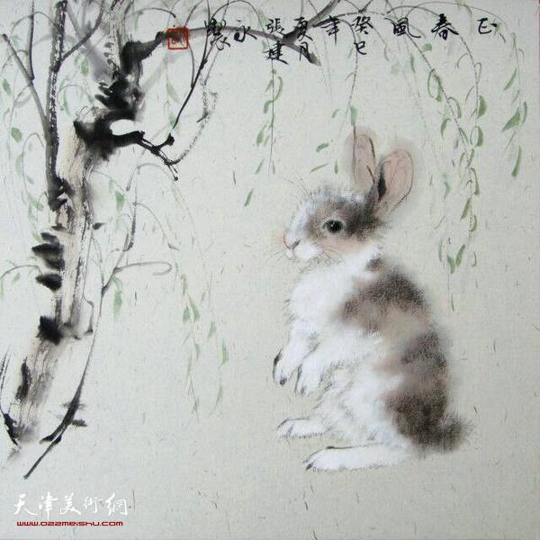 青年画家张迩做客天津美术网访谈实录