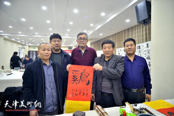 津门书画名家文化下乡进蔡台