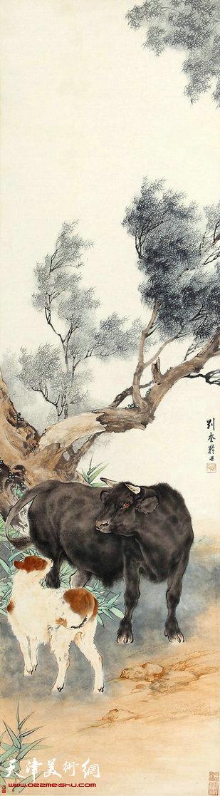 这件纤细逼真,神态自然的作品是刘奎龄动物画中的代表作,且此作题材