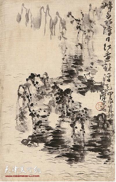 鼎天秋拍317号作品:梁崎《山水图册》之一