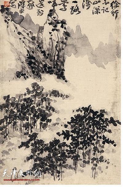 鼎天秋拍317号作品:梁崎《山水图册》之三