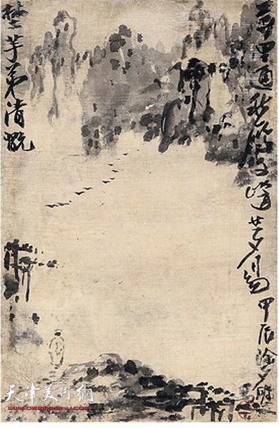 鼎天秋拍317号作品:梁崎《山水图册》之四