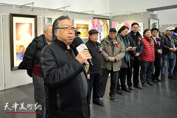 天津美协水彩画艺委会主任石增琇致辞