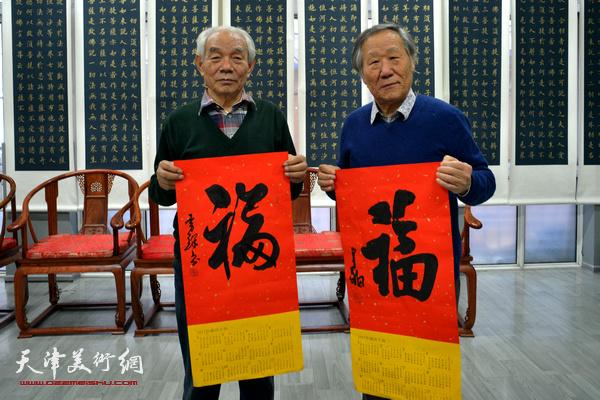 """""""津门二ji""""纪振民、姬俊尧在活动现场。"""
