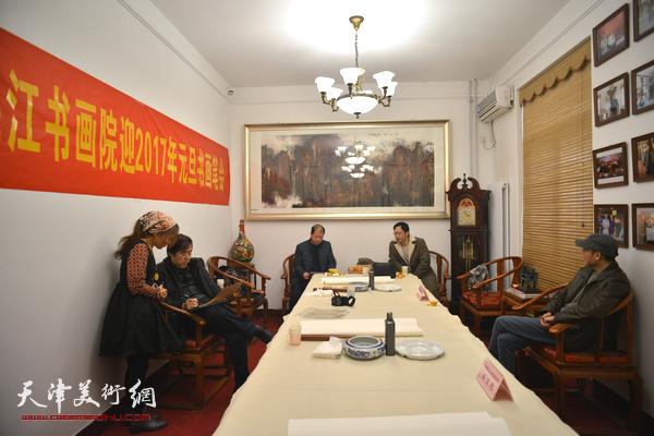 李锋、邵佩英、崔寒柏、蔡建花在梅江书画院