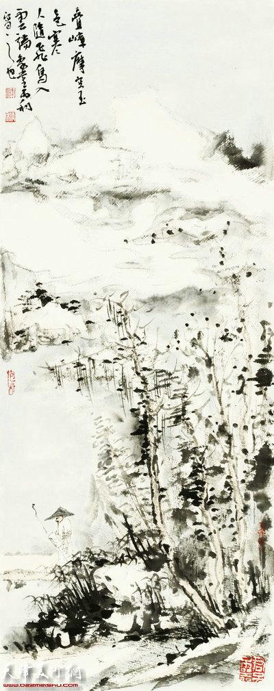 陈丙利作品:青山隐逸系列之四