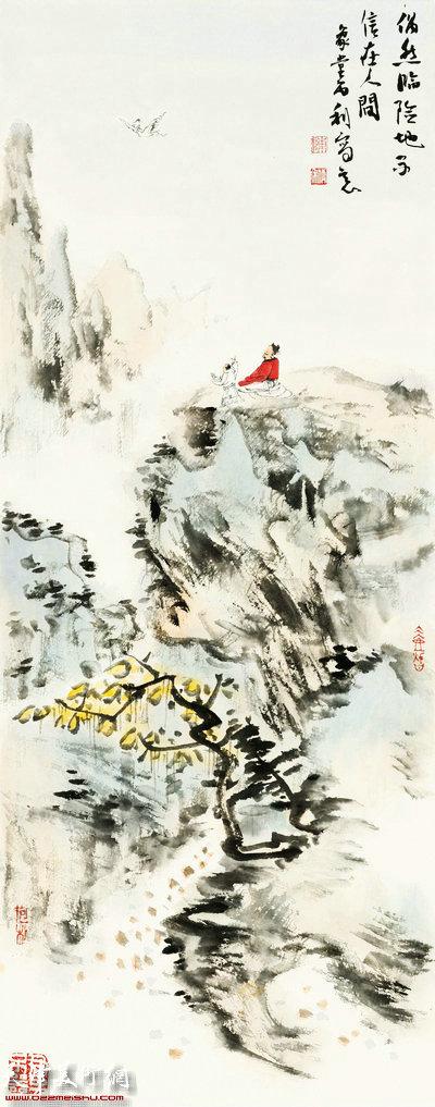 陈丙利作品:青山隐逸系列之八