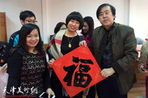 """天津书法家""""送万福进万家""""走进红桥教师进修学校"""