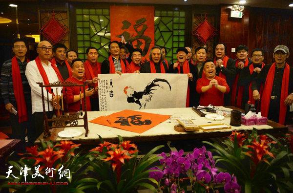 天津书画名家迎新春送福大拜年活动