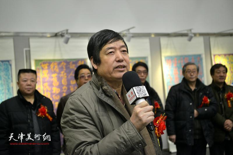 天津师范大学书画院院长陈元龙致辞。