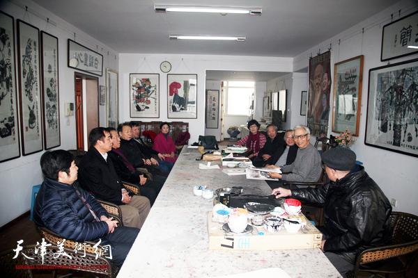 百中国画院走访刘荫祥艺术工作室