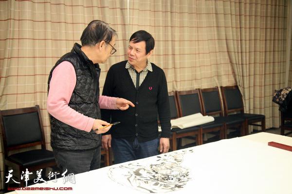 百中国画院与金带福路文化中心开展新年联谊活动