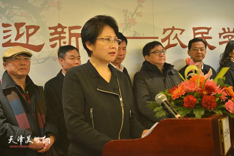 宝安地产副董事长,江南城项目负责人敬华致辞