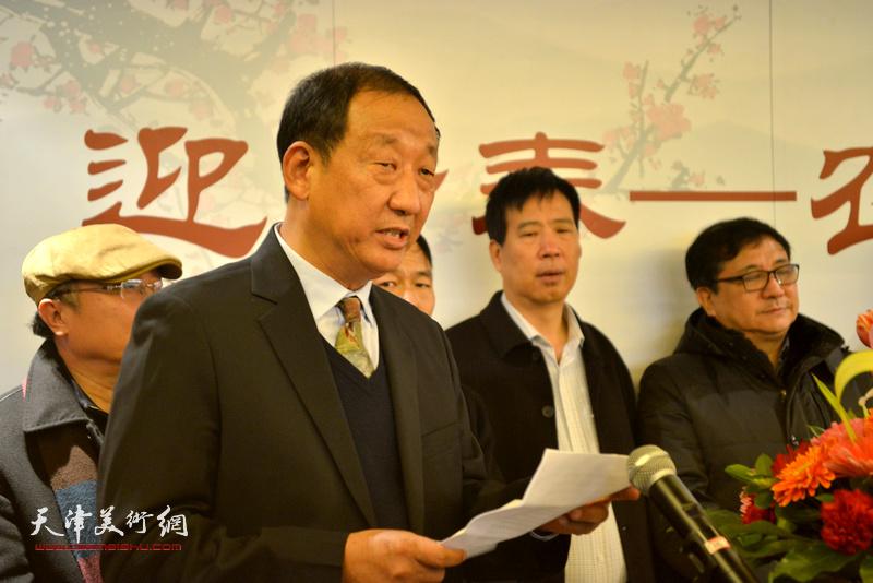 西青区王兰庄党支部书记郭宝印致辞。