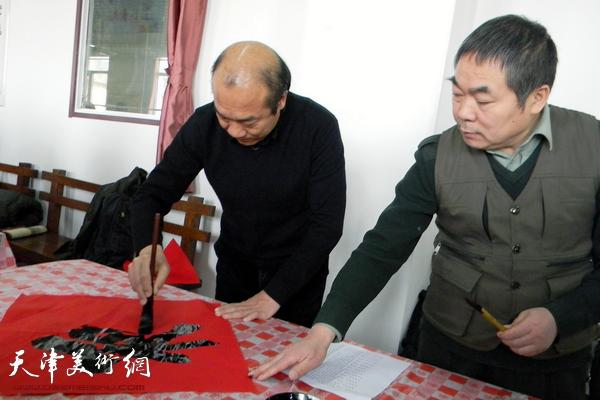 """天津市书法家""""送万福进万家""""活动走进蓟州区"""