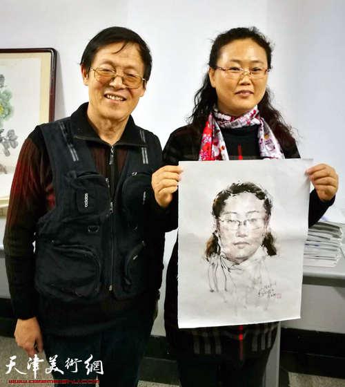 """百中国画院书画名家挥毫泼墨为""""母校""""送祝福"""