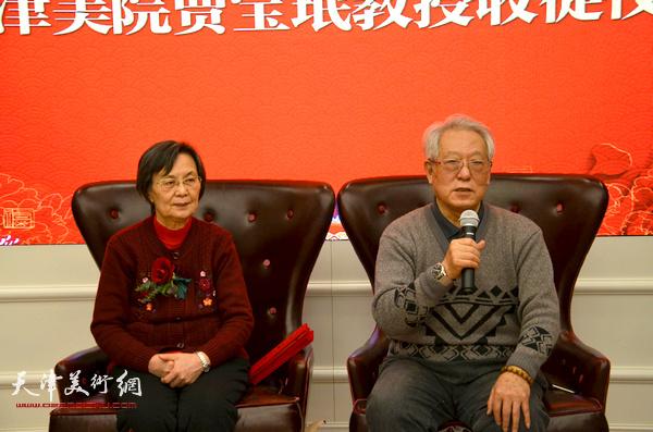 贾宝珉勉励新弟子勤学苦练,掌握真本领。