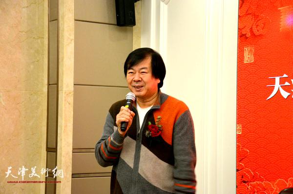 天津美协副主席史振岭到场祝贺。