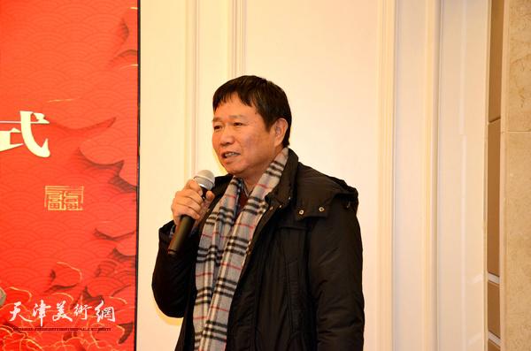 天津美术学院教授刘文生到场祝贺。
