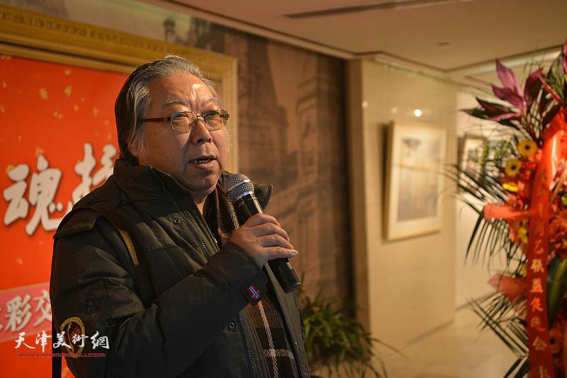 中国美协水彩艺术委员会委员、天津美协水彩艺术委员会主任石增琇致辞。