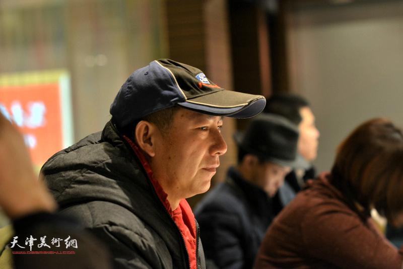 """张启泰在""""天津水彩交流研讨展研讨会""""上。"""