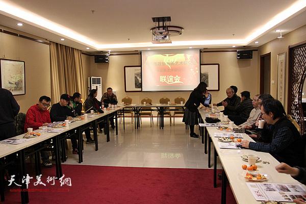 天津市政协书画艺术研究会水彩画艺术研究院举办迎新春2017迎新春茶话会。